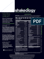Shakeology GreenBerry Nutrition Data