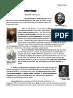 Fenómenos eléctricos-Historia