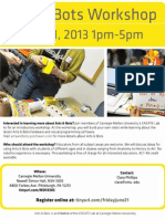 Arts & Bots Workshop June 21, 2013