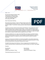 Arkansas Rice Letter to FDA Commissioner Hamburg