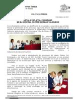 12/02/11 Germán Tenorio Vasconcelos instala Sso Aval Ciudadano en El Hospital Dr Aurelio Valdivieso