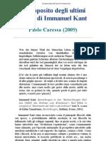 Caressa Paolo - A Proposito Degli Ultimi Giorni Di Immanuel Kant