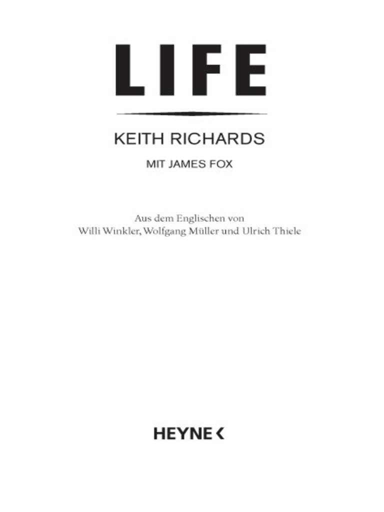 Richards, Keith - Life