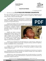 21/02/11 Germán Tenorio Vasconcelos EXHORTA SSO A LA POBLACIÓN A PREVENIR CONJUNTIVITIS