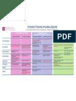 Fonction publique - Calendrier de travail prévisionnel