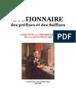 Langue Française Dictionnaire des Préfixes et des Suffixes de la Langue Française (850)