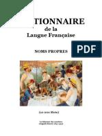 Langue Française Dictionnaire des Noms Propres (10 000 mots)