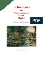 Langue Française Dictionnaire des Noms Composés et des Pluriels (2500 Mots)