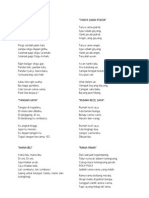 Lirik Lagu Kanak-kanak Malaysia