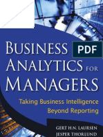 Business Analytics for Managers; Taking Business