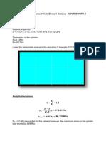 SESS 6061 Advanced Finite Element Analysis_CW2