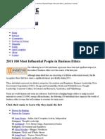 (2011 100 Most Influential..._ Ethisphere™ Institute)