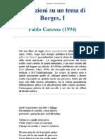 Caressa Paolo - Variazioni Su Un Tema Di Borges
