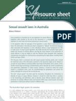 Sexual Assault Laws in Australia