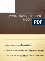 Post Transcriptional Modification