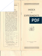 Index of Experiments (1951)