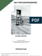 eBook - Wind Power - Savonius Generator - Wind Energy for Earth Keepers Savonius Wind Mill