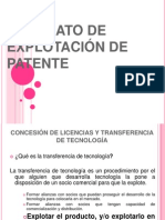EXPO EXPLOTACIÓN DE PATENTE