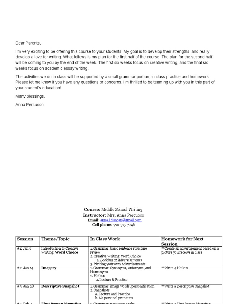 Workbooks homonyms worksheets middle school : Syllabus - Middle School Writing | Verb | Essays