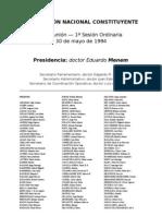 Reforma Constitucional de 1994. Argentina. Debate del 30 de mayo de 1994