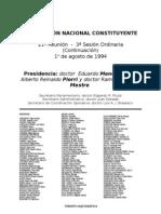 Reforma Constitucional de 1994. Argentina. Debate del 1 de agosto de 1994