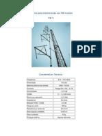 Antena para transmissão em FM - modelo FM V