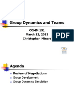 Group Dynamics and Teams - March 12