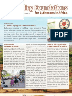 Building Foundations for Lutherans in Africa