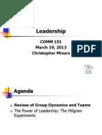 Leadership - March 19 FWS