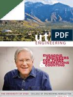 College of Engineering at the University of Utah - Spring 2013 Newsletter