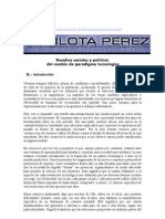 Humanidades i Carlota Perez Desafios Sociales y Politicos