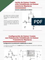 Polarizacion Estabilizada en Emisor AC Transistores Bipolares
