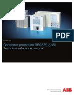 1MRK502027-UUS a en Technical Reference Manual REG670 ANSI 1.2