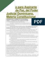 Temario Para Aspirante a Juez de Paz Constitucional