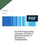 For Profit Undergrad Report