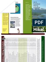 Audubon Hike Schedule 2013
