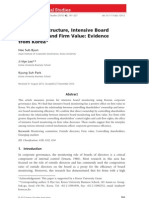 Ownership Structure, Intensive Board Monitoring, and Firm Value