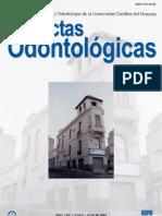 Actas Odontologicas Vol I No 1