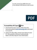 Samsung s Galaxy11 Manual