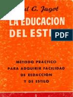 Jagot, Paul - La Educación del Estilo