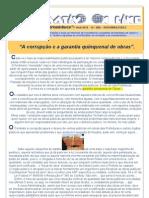 """Dicas do Pernambuco - ano VIII - nº 106 - """"A corrupção e a garantia quinquenal de obras..."""""""