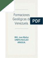 Formaciones Geologicas en Venezuela