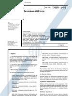 NBR 12483 PB 1545 - Chuveiros Eletricos