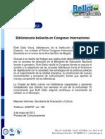 Bibliotecaria Bellanita en Congreso Internacional