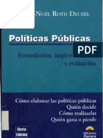 Noël André_Deubel Roth_La evaluación de las Políticas Públicas_Políticas Públicas