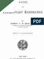 Notes on Elementary Knematics (1910)