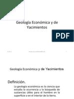 Geología Económica y de Yacimientos