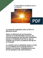 LA CONEXION MAGNÉTICA ENTRE EL SOL Y LA GLANDULA PINEAL