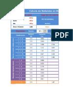 Calculo de Materiales (ERM)
