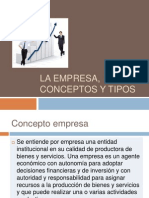 2 La Empresa, Conceptos y Tipos
